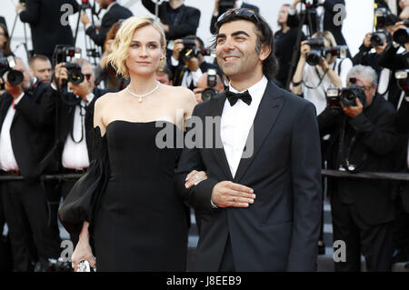 Cannes, Frankreich. 28th May, 2017. Diane Kruger and Fatih Akin attending the closing-night of the 70th Cannes Film - Stock Photo