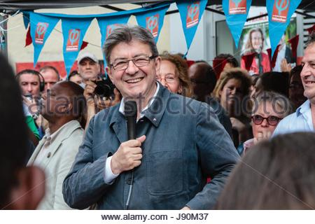 Paris, France. 30th May, 2017. Former French presidential election candidate Jean-Luc Melenchon, candidate in Marseille - Stock Photo