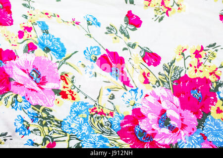 wale of fabric floral pattern - Stock Photo
