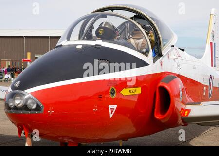Jet Provost on static display at the Imperial War Museum Duxford - Stock Photo