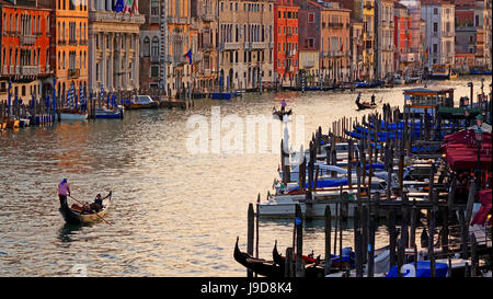 Canal Grande (Grand Canal), Venice, UNESCO World Heritage Site, Veneto, Italy, Europe - Stock Photo