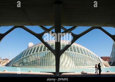 L'Hemisferic, by Santiago Calatrava. City of Arts and Sciences, Valencia, Spain. - Stock Photo