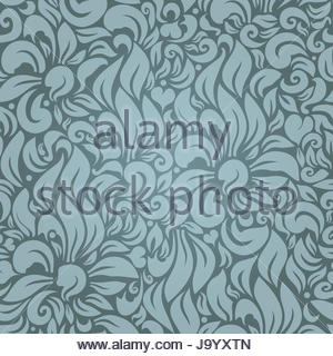 Vector Seamless floral pattern against a uniform background - Stock Photo