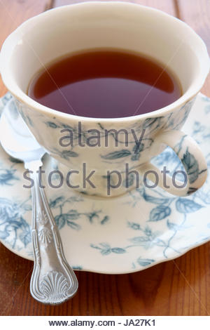 Tea in a china cup - Stock Photo