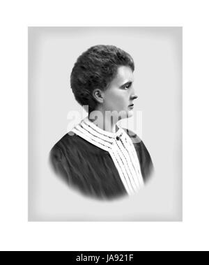 Marie Sklodowska Curie, 1867 - 1934, Polish born French Physicist, Chemist - Stock Photo