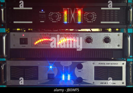 music equalizer,  Sound waves set. Music background - Stock Photo
