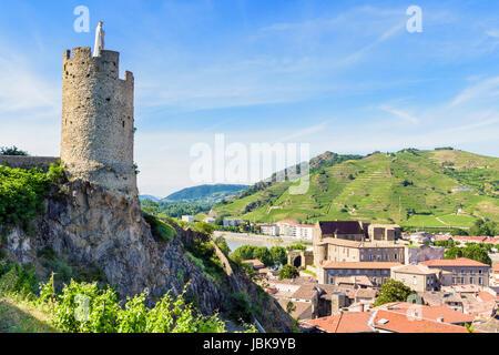 The 16th century watchtower tour de l h pital overlooked - Office de tourisme tournon sur rhone ...