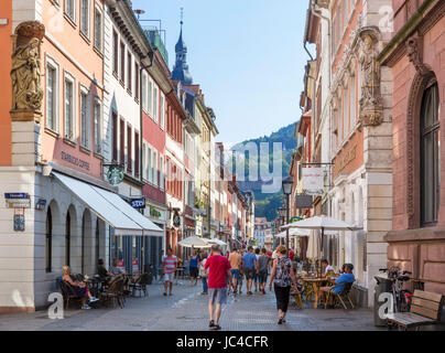 shops and cafes on a typical street in the historic old quarter stock photo royalty free image. Black Bedroom Furniture Sets. Home Design Ideas