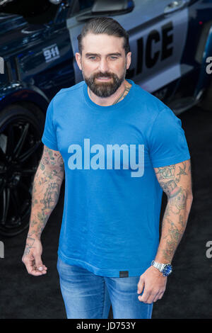 London, UK. 18 June 2017. Ant Middleton arrives for the global premiere of Transformers: The Last Knight at Leicester - Stock Photo