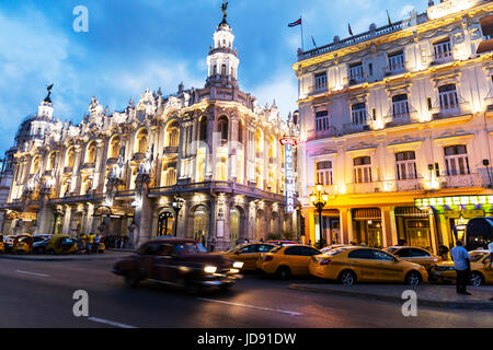 Gran Teatro De La habana, Gran Teatro de La Habana, The Great Theatre of Havana , opened in 1838. Building, exterior, - Stock Photo