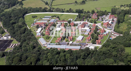 aerial view of HMP Styal prison, Cheshire, UK - Stock Photo