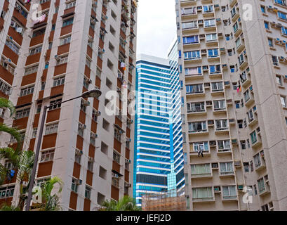 The crowded accommodation of Hong Kong - Stock Photo