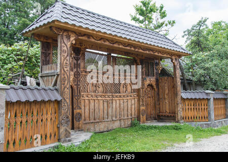 Wooden door of a church decorated with floral motifs portel stock photo royalty free image - Houses maramures wood ...