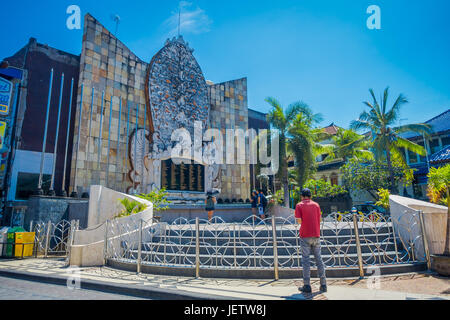 BALI- INDONESIA MARCH 08 2017: An unidentified people in the building of a memorial attack to victims of the Bali - Stock Photo