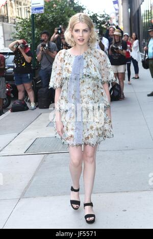 New York, NY, USA. 29th June, 2017. Lucy Boynton at AOL BUILD on June 29, 2017 in New York City. Credit: Diego Corredor/Media - Stock Photo