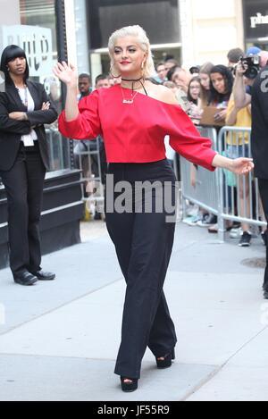 New York, NY, USA. 29th June, 2017. Bebe Rexha at AOL BUILD on June 29, 2017 in New York City. Credit: Diego Corredor/Media - Stock Photo