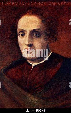 Christopher Columbus (1451 – 1506), Italian explorer, navigator, colonizer, and citizen of the Republic of Genoa. - Stock Photo