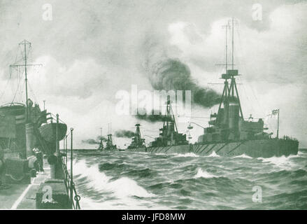 Some units of the Grand Fleet, 1917 - Stock Photo