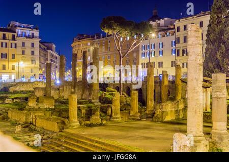 archaeological area of Largo Argentina, Rome - Stock Photo