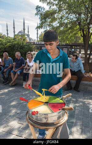turkey istanbul street food vendor with barrow or cart. Black Bedroom Furniture Sets. Home Design Ideas