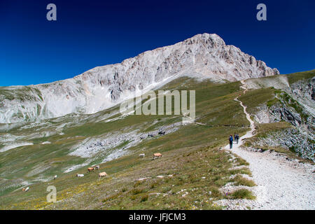 Europe, Italy, Abruzzo, Gran Sasso and Monti della Laga National Park - Stock Photo