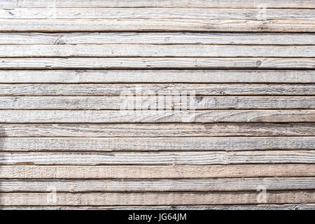 striped wooden background, stacked wood boards - Stock Photo