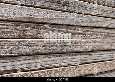 striped wooden background, stacked wood planks - Stock Photo