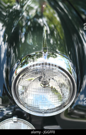 green retro car headlight stock photo: 48605385 alamy