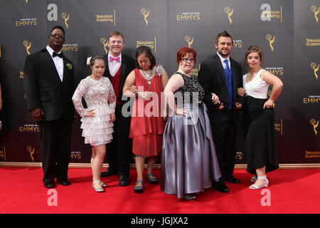 Los Angeles, CA, USA. 11th Sep, 2016. LOS ANGELES - SEP 11: Born This Way Cast at the 2016 Primetime Creative Emmy - Stock Photo