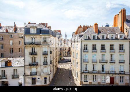 france loire atlantique nantes the rue de la juiverie stock photo royalty free image. Black Bedroom Furniture Sets. Home Design Ideas