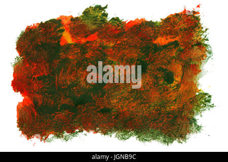 Abstract hand painted art background isolated on white - Stock Photo
