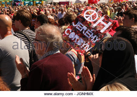 Durham, UK 8th July 2017 Record crowds since the 1960s of more than 200,000 people are estimated to have attended - Stock Photo