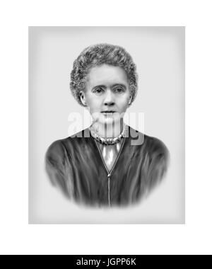 Marie Curie, 1867 - 1934, Polish born French Physicist, Chemist - Stock Photo