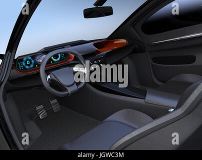autonomous car interior connected car icons internet of things stock photo royalty free image. Black Bedroom Furniture Sets. Home Design Ideas