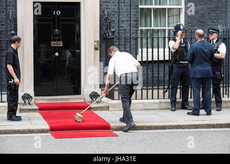 London, United Kingdom Of Great Britain And Northern Ireland. 13th July, 2017. No. 10 Downing Street. London, UK. - Stock Photo