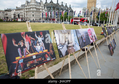 London, UK. 13th July, 2017. An exhibition of photography from the attempted coup d'état in Turkey in 2016 organised - Stock Photo