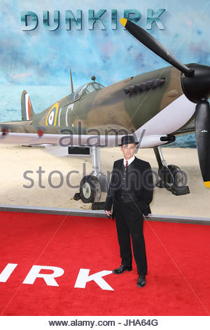 Mark Rylance, Dunkirk - World film premiere, Leicester Square Gardens, London UK, 13 July 2017, Allied soldiers - Stock Photo