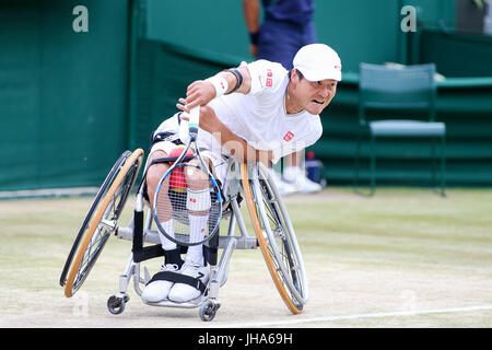 London, UK. 13th July, 2017. Shingo Kunieda (JPN) Tennis : Shingo Kunieda of Japan during the Men's wheelchair singles - Stock Photo