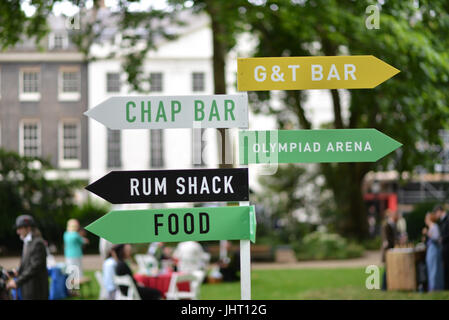 Bedford Square, London, UK. 15th July 2017 The annual Chap Olympiad in Bedford Square. Credit: Matthew Chattle/Alamy - Stock Photo