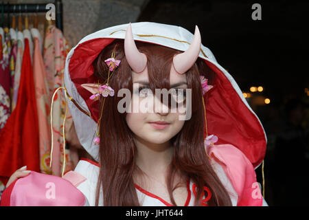 London, England, UK. 15th July 2017. Hundreds attend the Japanese culture - Hype Japan 2017 and dress up in expressions - Stock Photo