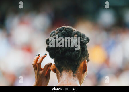 London, UK. 15th July, 2017. Venus Williams (USA) Tennis : Venus Williams of the United States during the Women's - Stock Photo