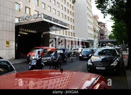 Berlin, Germany. 17th July, 2017. View of the Hotel Bristol Kempinski at Kurfuerstendamm in Berlin, Germany, 17 - Stock Photo
