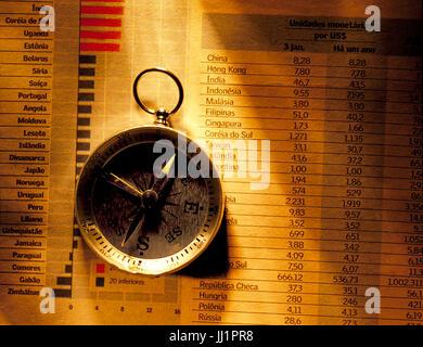 Compass, Porto Alegre, Rio Grande do Sul, Brazil - Stock Photo