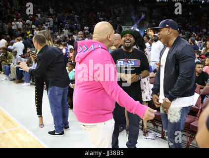Fat Joe, Ice Cube and LL Cool J attend the Big 3 league in Phiily, PA on 7/16/17 - Stock Photo