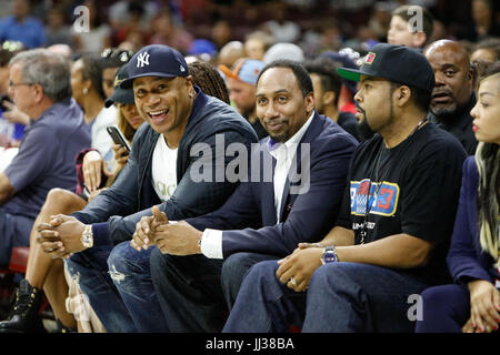 LL Cool J,Steven A. Smith Ice Cube attend Big 3 league Phiily,PA 7/16/17 - Stock Photo