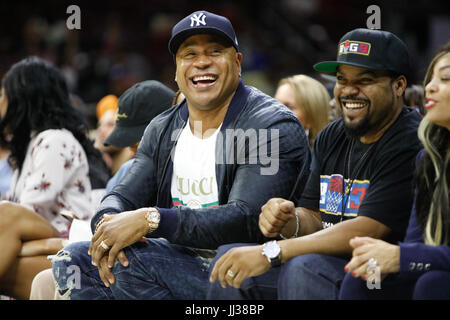 LL Cool J Ice Cube attend Big 3 league Phiily,PA 7/16/17 - Stock Photo