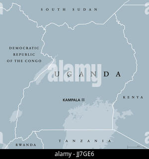 Uganda Political Map Stock Photo 72544784 Alamy