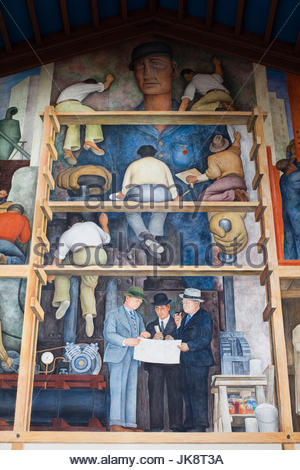 Mexican artist diego rivera mural of mexican history in for Diego rivera mural san francisco