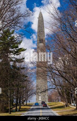 USA, Bennington, Bennington Battle Monument, commemorates American Revolutionary battle of August 16 1777 - Stock Photo