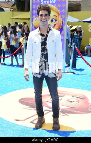 Westwood, California, USA. 23rd July, 2017. Cameron Boyce arrives for the premiere of the film 'The Emoji Movie' - Stock Photo